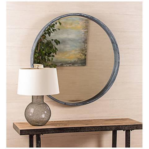 "Parson Gray 36"" Contemporary Round Mirror"