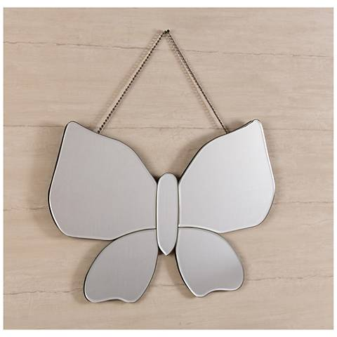 "Olivia 23 1/2"" x 15 1/2"" Butterfly Wall Mirror"