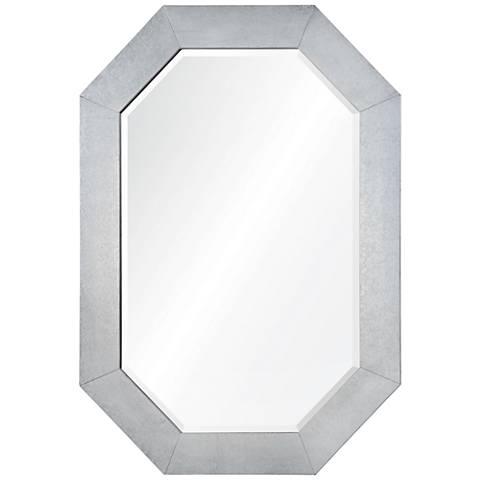 "Marcos Zinc 30 1/2"" x 42"" Octagon Wall Mirror"
