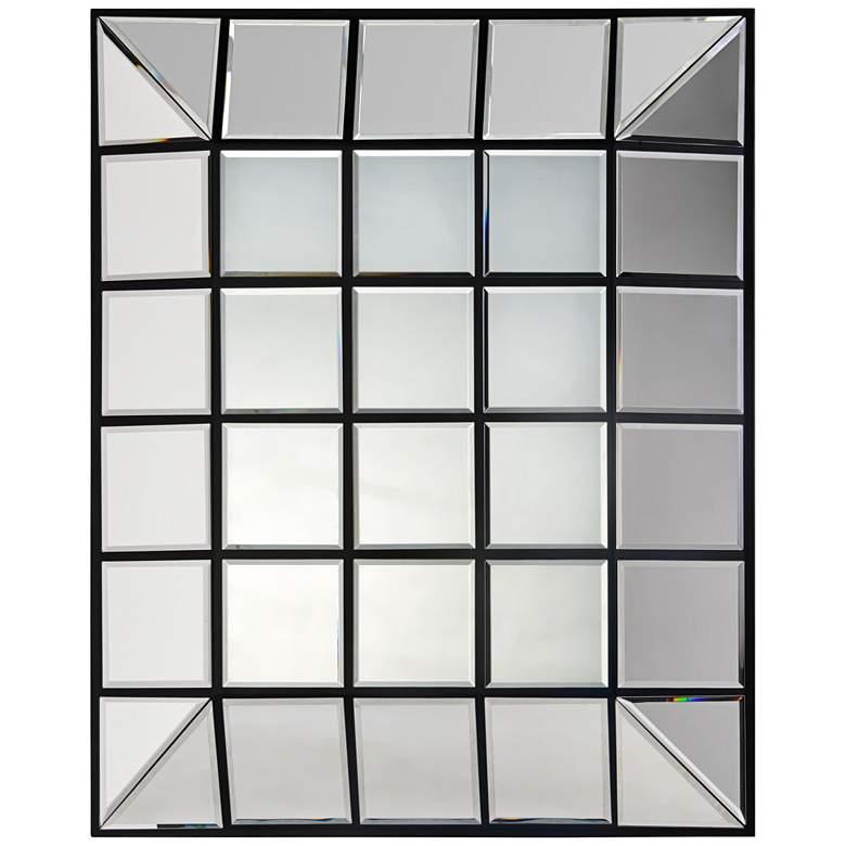 "Townsend Black 28"" x 33 1/2"" Convex Wall Mirror"