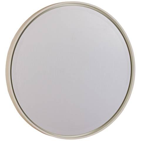 "Hadly White 30"" Round Wall Mirror"