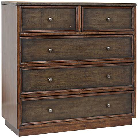 Uttermost Clive Walnut 5-Drawer Wood Accent Chest
