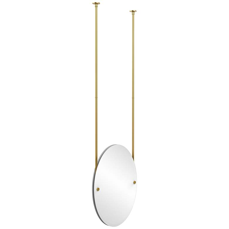 Avondale Ceiling Hung Polished Br 21 X 29 Mirror 9w208 Lamps Plus