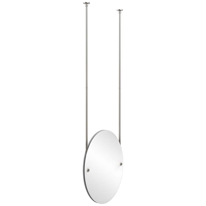 "Avondale Ceiling-Hung Polished Nickel 21"" x 29"" Oval"