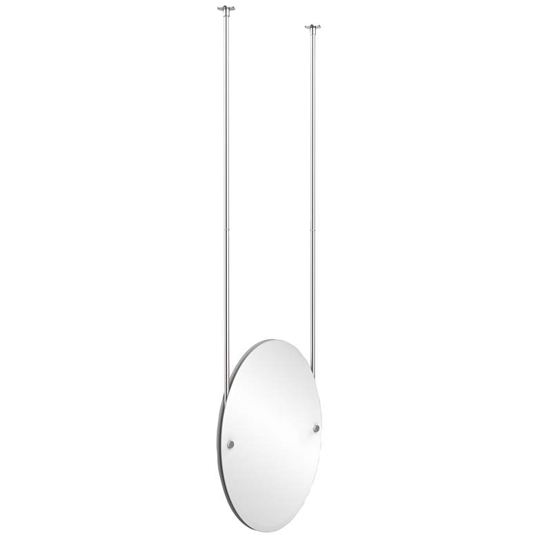 "Avondale Ceiling-Hung Satin Chrome 21"" x 29"" Oval"
