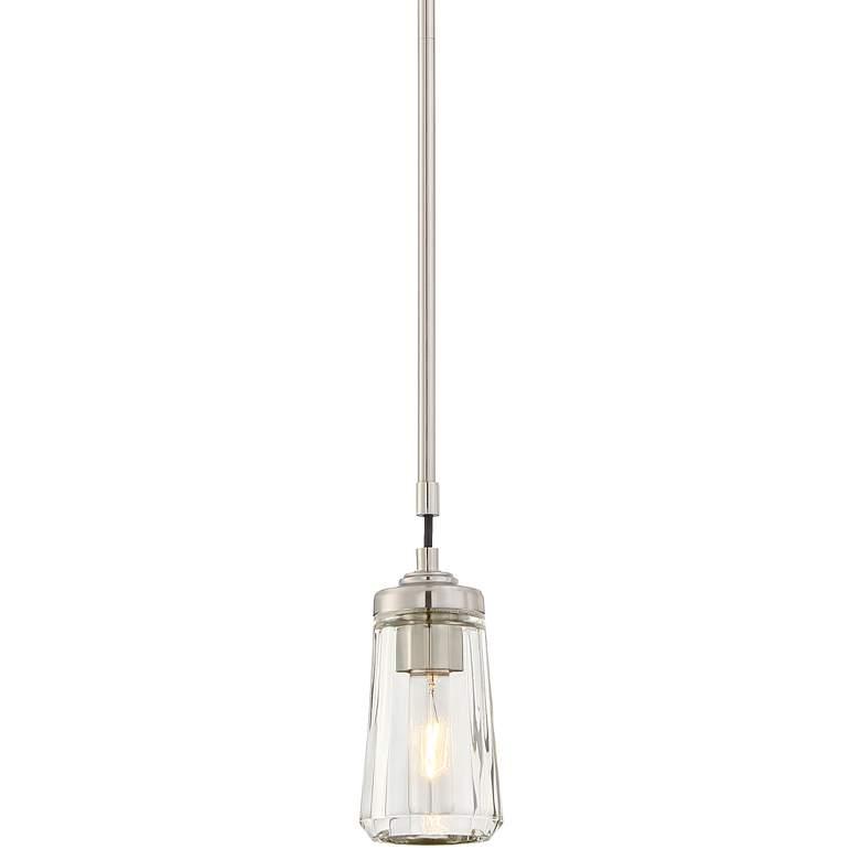 "Poleis 3 3/4"" Wide Brushed Nickel Mini Pendant Light"