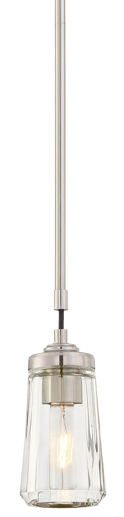 Poleis 3 3/4  Wide Brushed Nickel Mini Pendant Light  sc 1 st  L&s Plus & Poleis 3 3/4
