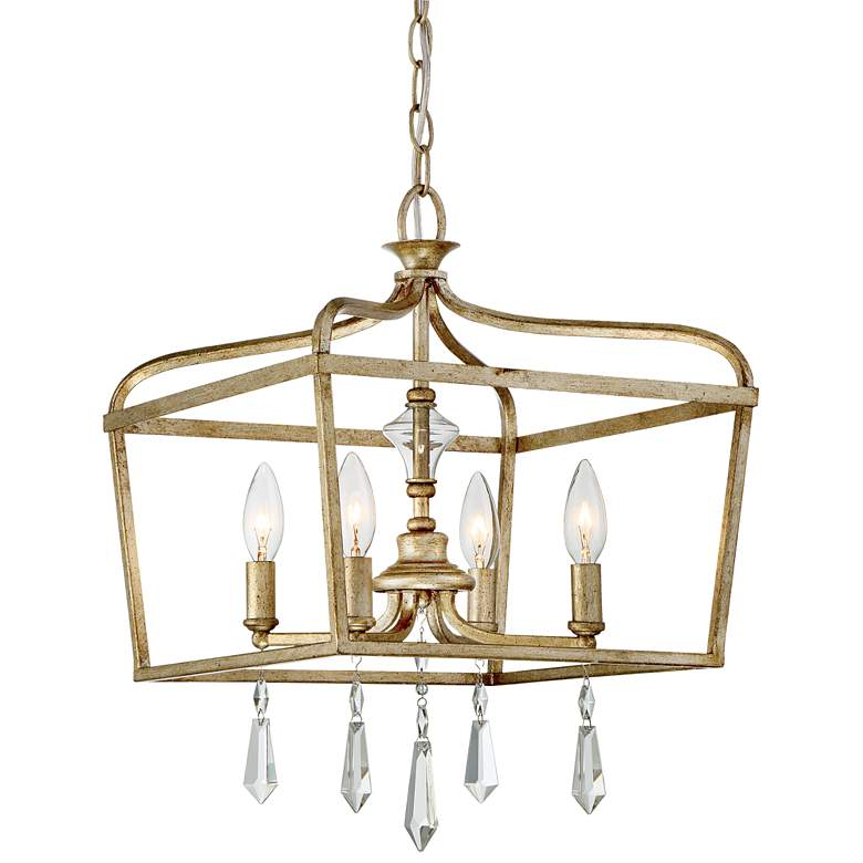 """Laurel Estate 14 1/4"""" Wide Brio Gold 4-Light Pendant"""