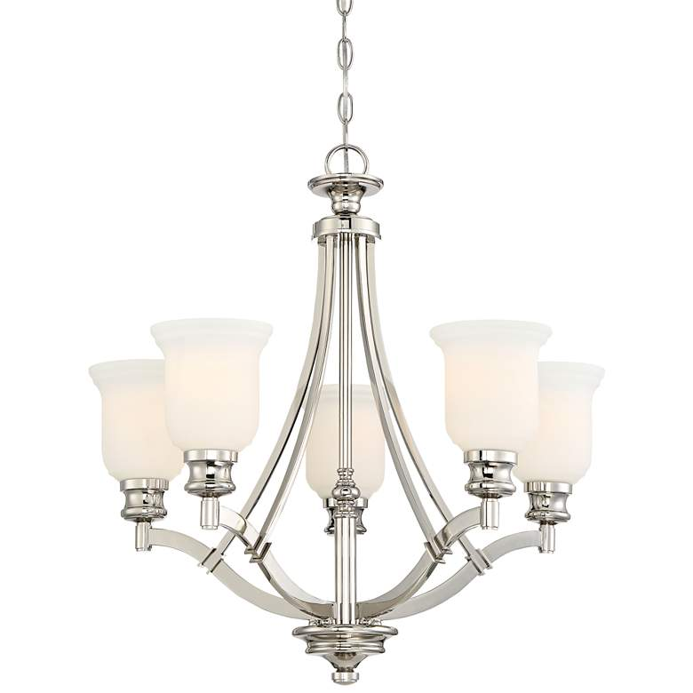 "Audrey's Point 25"" Wide Polished Nickel Chandelier"