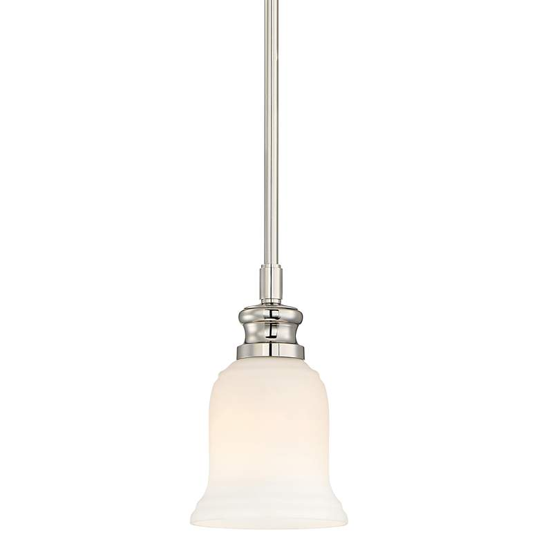 "Audrey's Point 5 1/4""W Polished Nickel Mini Pendant"