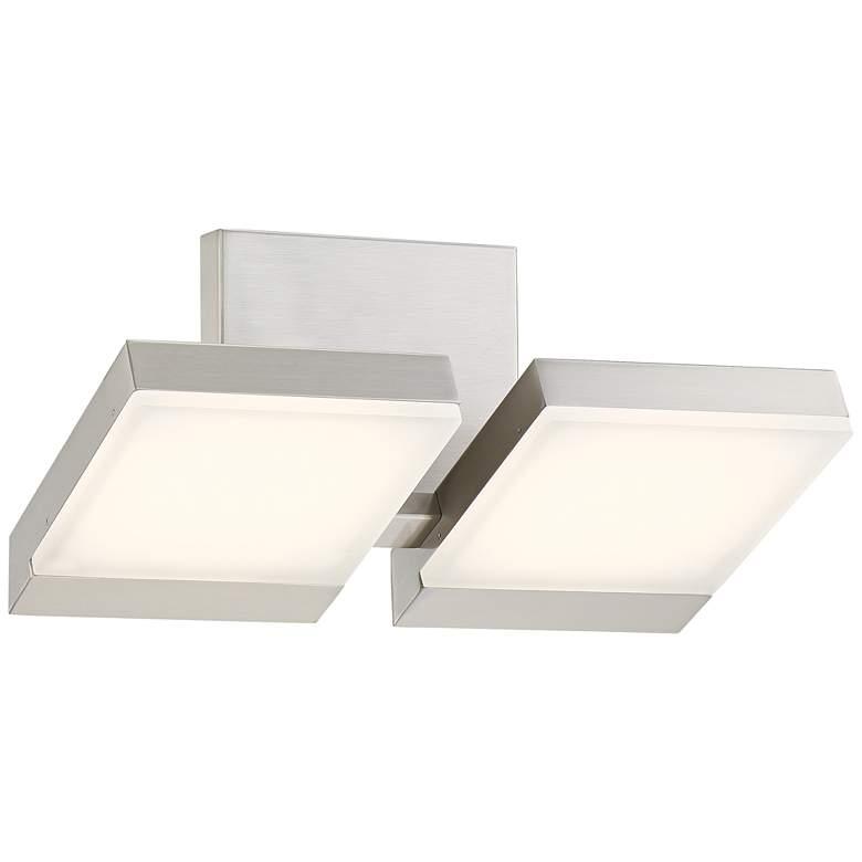 """George Kovacs Angle 13 1/2"""" Wide LED Nickel Bath Light"""