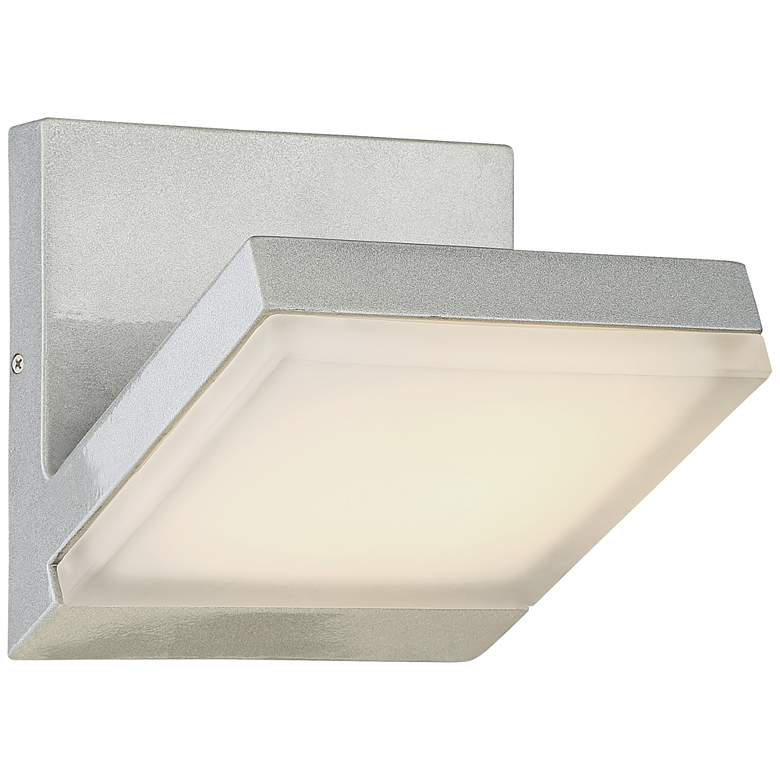 """George Kovacs Angle 7 1/4""""H LED Silver Dust Wall Sconce"""