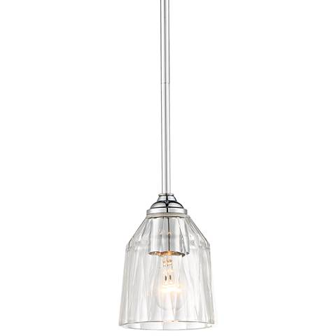 "D'or 5 1/4"" Wide Chrome and Clear Glass Mini Pendant"