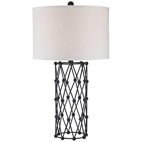 Dimond Exposition Bronze Diamond Ball Metal Table Lamp