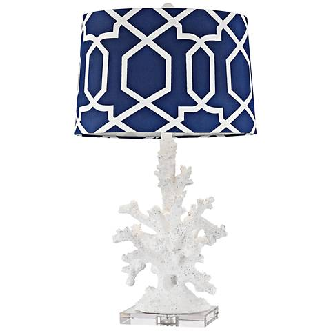Dimond Trunk Bay Gloss White Faux Coral Table Lamp