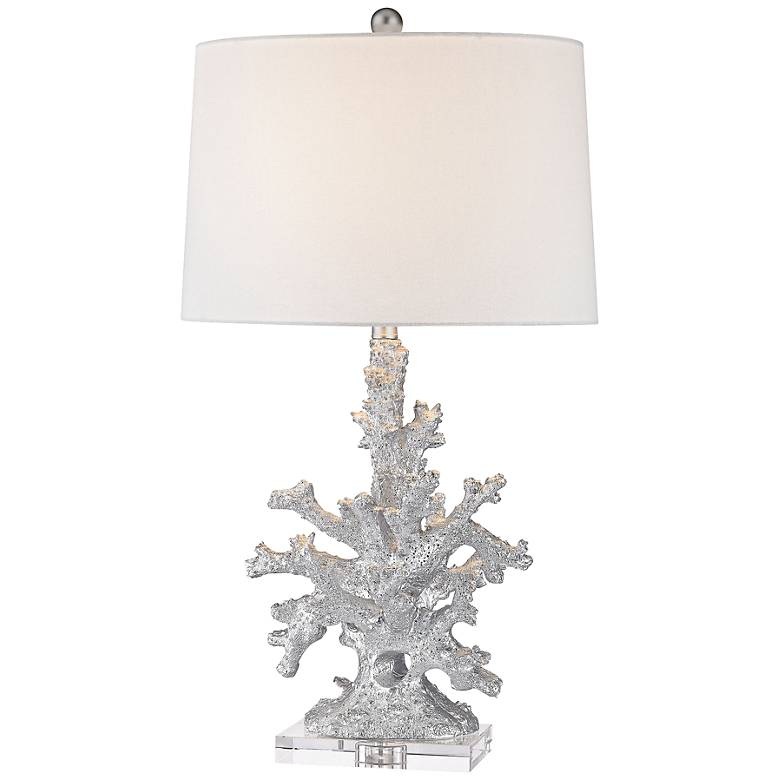 Trunk Bay Silver Faux Coral Table Lamp