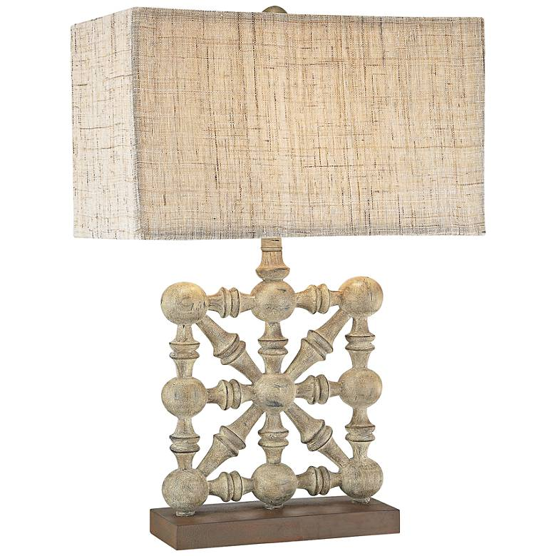 Biscay Castlebawn Stone Old World Table Lamp