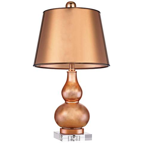 Dimond Mimosa Copper Double-Gourd Metal Table Lamp