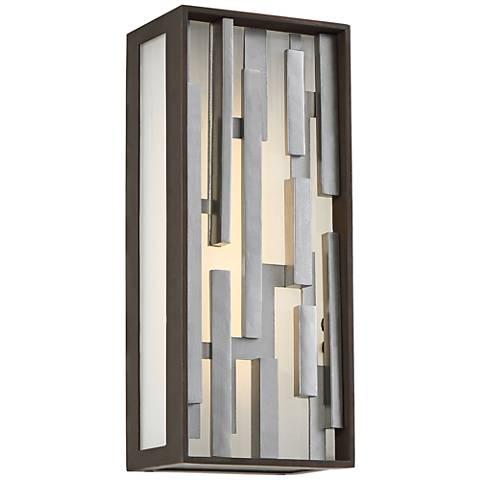 "George Kovacs Bars 13"" High LED Bronze Outdoor Wall Light"