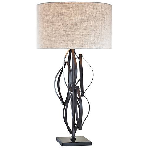 Dimond Felix Sculptural Bronze Strap Metal Table Lamp