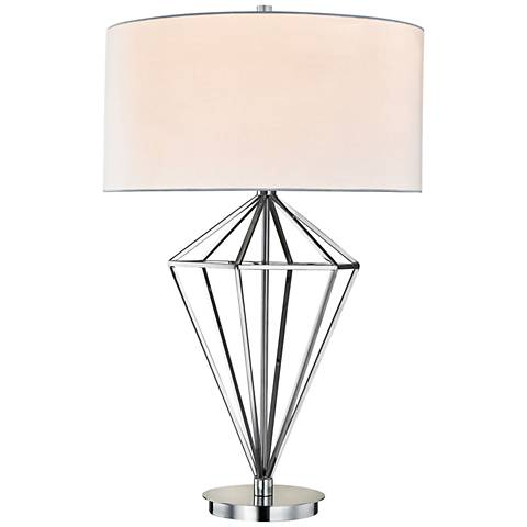 Dimond Adele Polished Nickel Open-Diamond Table Lamp