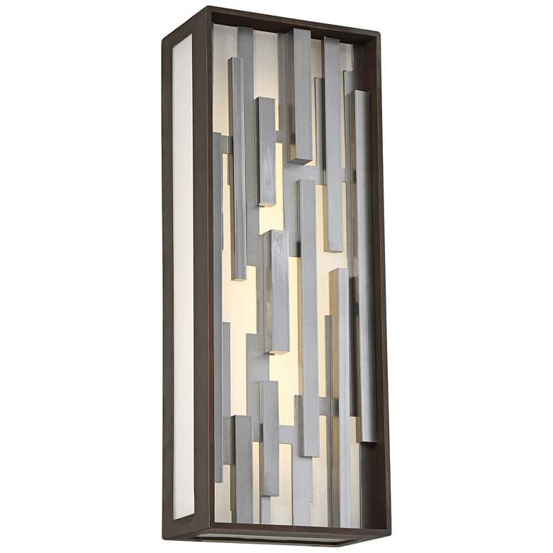 "George Kovacs Bars 17"" High LED Bronze Outdoor Wall Light"