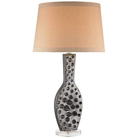 Dimond Silkfloss Bronze Polished Ceramic Table Lamp