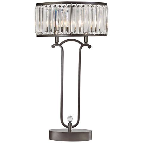 Dimond Rudolfo Bronze and Crystal Prism Table Lamp