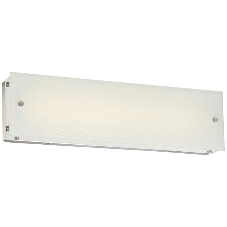 "George Kovacs Button 20""W LED Brushed Nickel Bath Light"