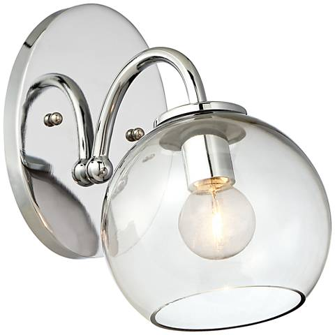 """George Kovacs Exposed 5 3/4"""" Wide Chrome Wall Sconce"""