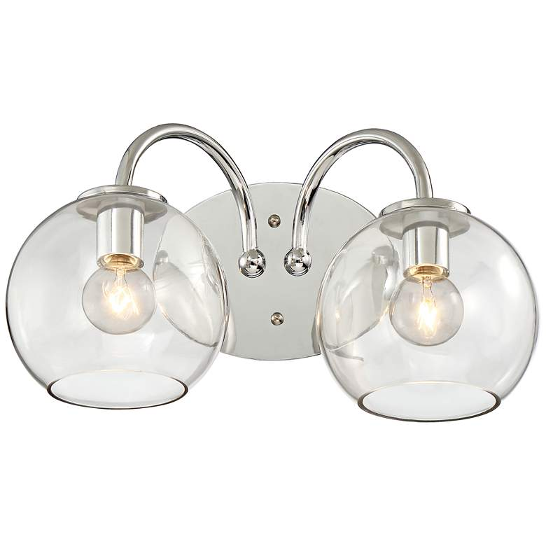 "George Kovacs Exposed 2-Light 15 1/2""W Chrome Bath Light"