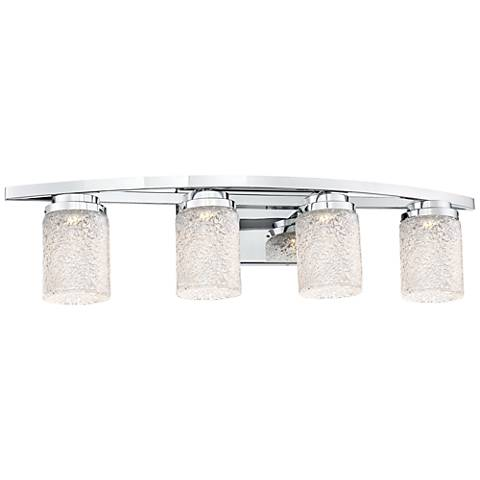 "George Kovacs Brilliant 32"" Wide Chrome 4-LED Bath Light"