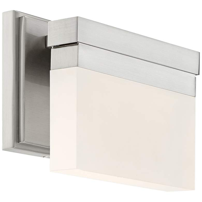 "George Kovacs Skinny 8""W LED Brushed Nickel Wall Sconce"