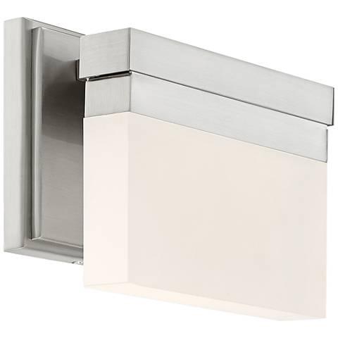 "George Kovacs Skinny 8""W LED Brushed Nickel Wall Sconce"