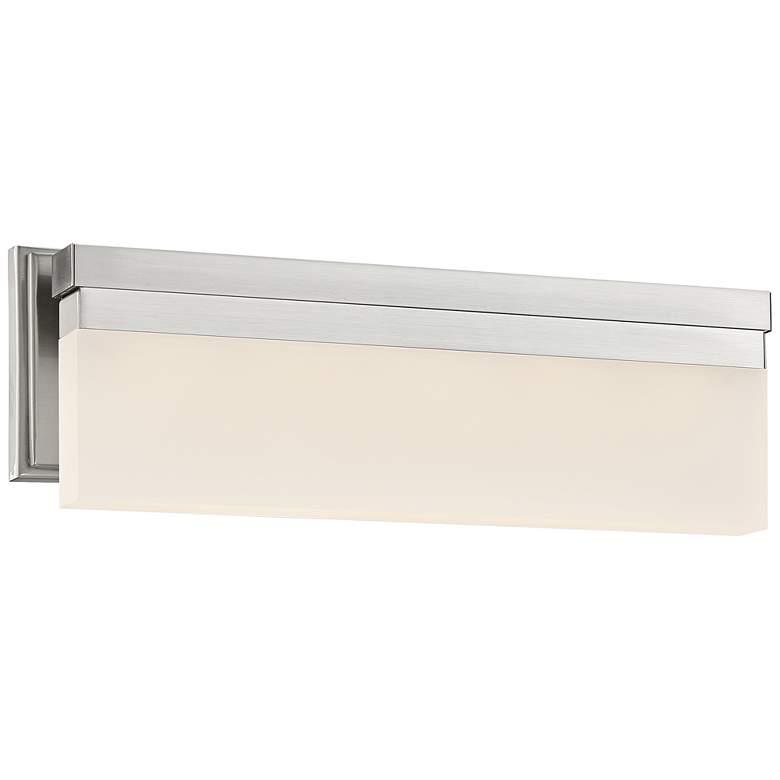 "George Kovacs Skinny 17"" Wide LED Brushed Nickel Bath Light"