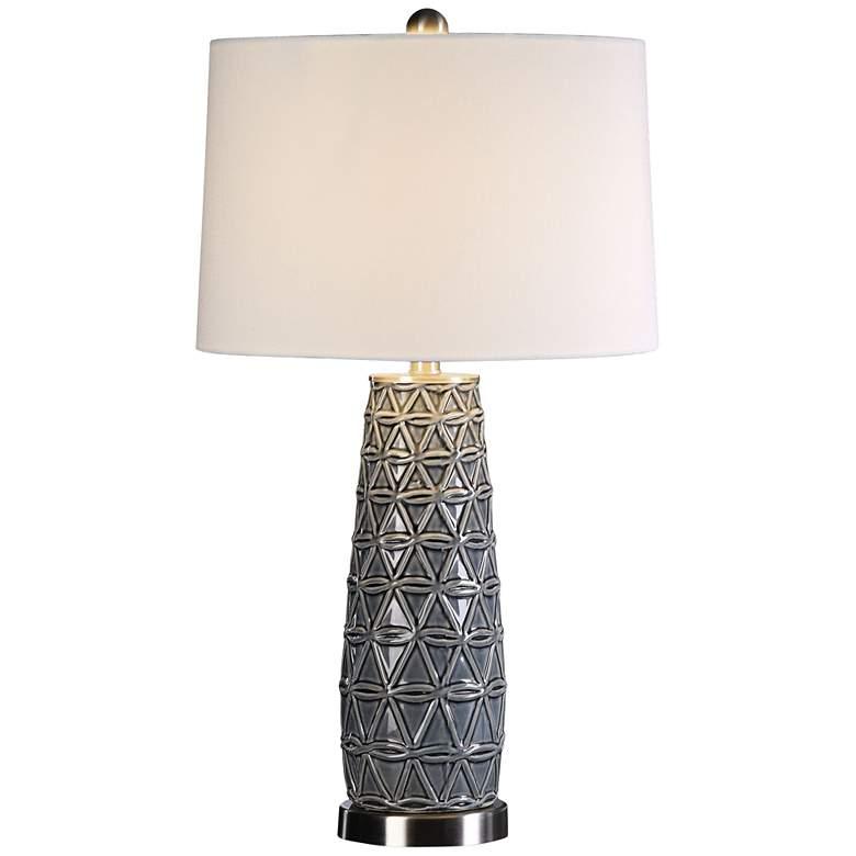 Uttermost Cortinada Stone Gray Glazed Ceramic Table Lamp