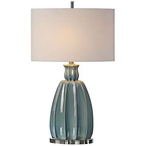 Uttermost Suzanette Sky Blue Crackle Ceramic Table Lamp