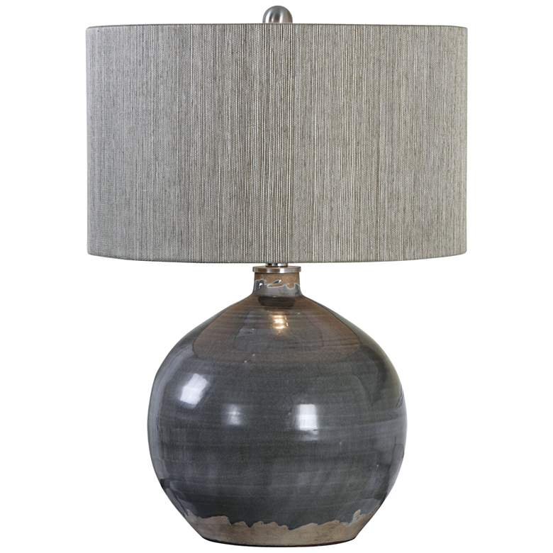 Uttermost Vardenis Charcoal Crackle Ceramic Table Lamp