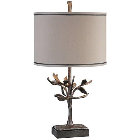 Uttermost Leova Rusty Bronze Textured Iron Table Lamp