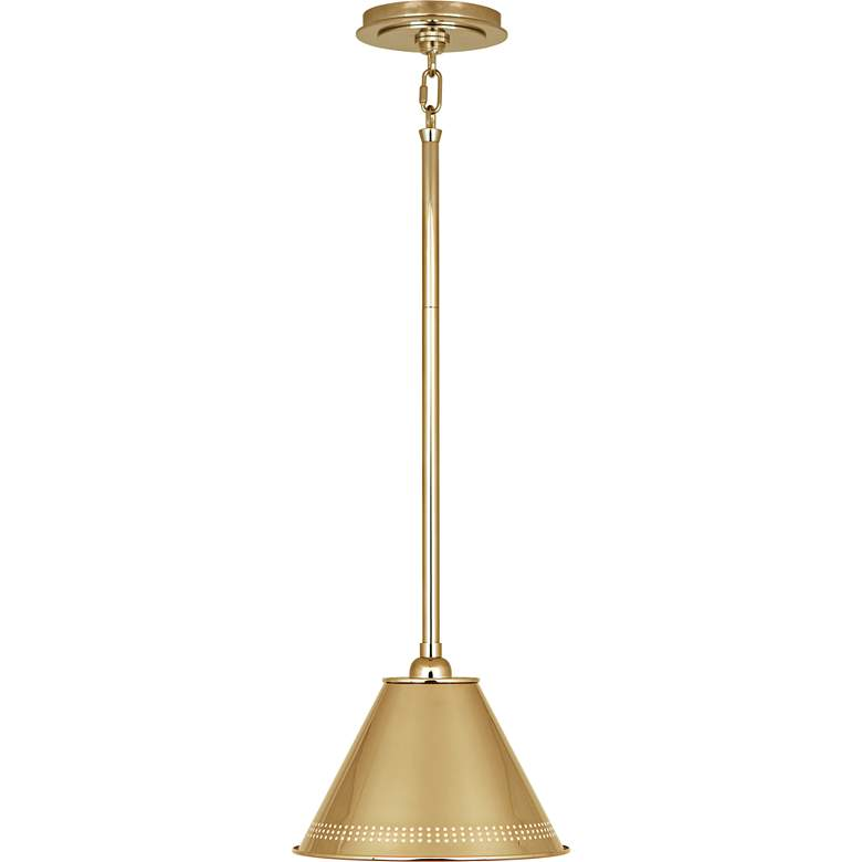 "Jonathan Adler St. Germain 10""W Polished Brass Mini Pendant"
