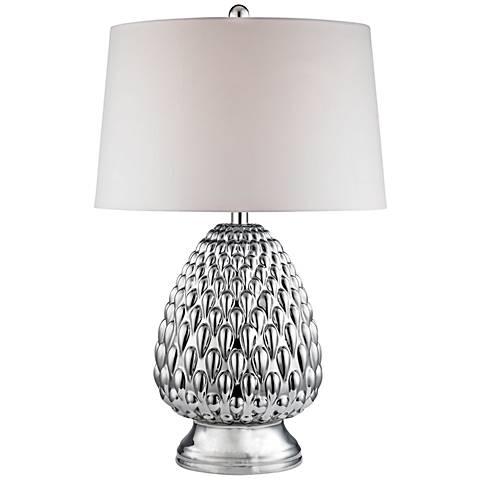 Romaine Mercury Acorn Chrome Plating Ceramic Table Lamp