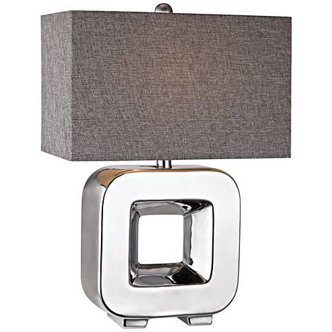 Dimond Oakwood Open Cube Chrome Ceramic Table Lamp