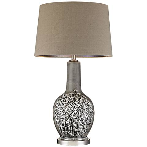 Dimond Colgate Floral Gray Glaze Ceramic Table Lamp