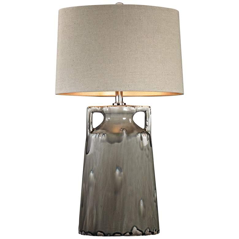 Reaction Urn Gray Glaze Ceramic Table Lamp