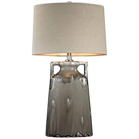 Dimond Reaction Urn Gray Glaze Ceramic Table Lamp