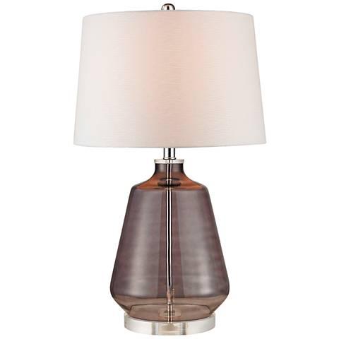 Dimond Wilshire Gray Smoke Glass Table Lamp