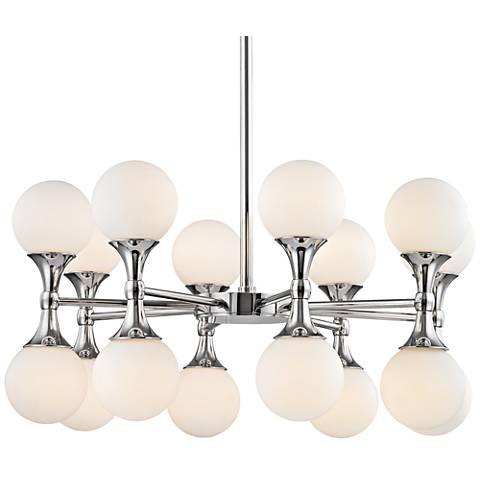 "Hudson Valley Astoria 27""W Polished Chrome LED Chandelier"
