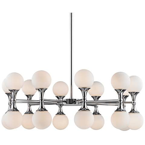 "Hudson Valley Astoria 36""W Polished Chrome LED Chandelier"