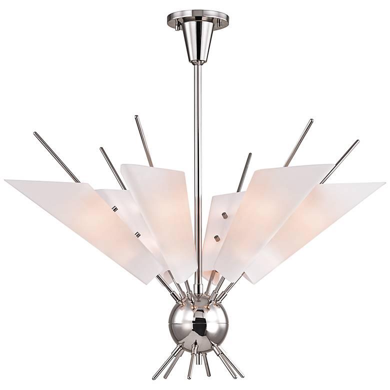 """Cooper 32 1/4"""" Wide Polished Nickel 12-Light LED Chandelier"""