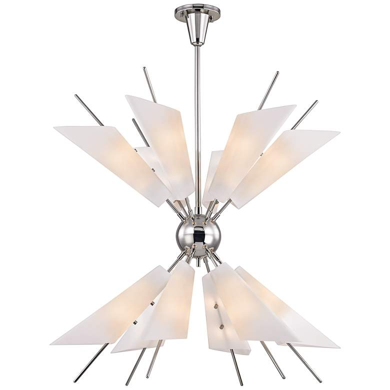 "Cooper 32 1/4"" Wide Polished Nickel 24-Light LED Chandelier"